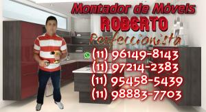 Roberto Montador de Móveis Perfeccionista 300x164 - Montador de moveis Cidade líder - SP- (11) 96149-8143